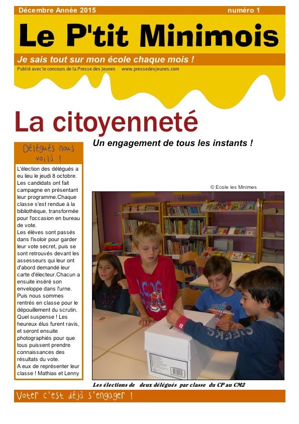 Le p'tit Minimois décembre 2015 page1
